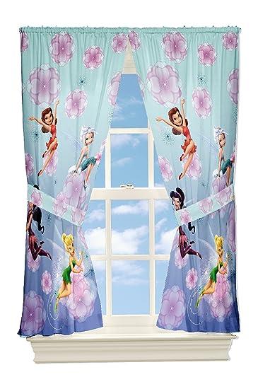 Tinkerbell Kinderzimmer   Disney Fairies Tinkerbell Kinderzimmer Gardine 2 Schals Mit