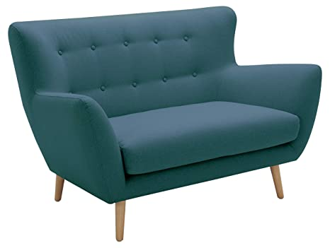Rivet Isabelle Mid-Century Modern Loveseat with Tapered Wood Legs, 55