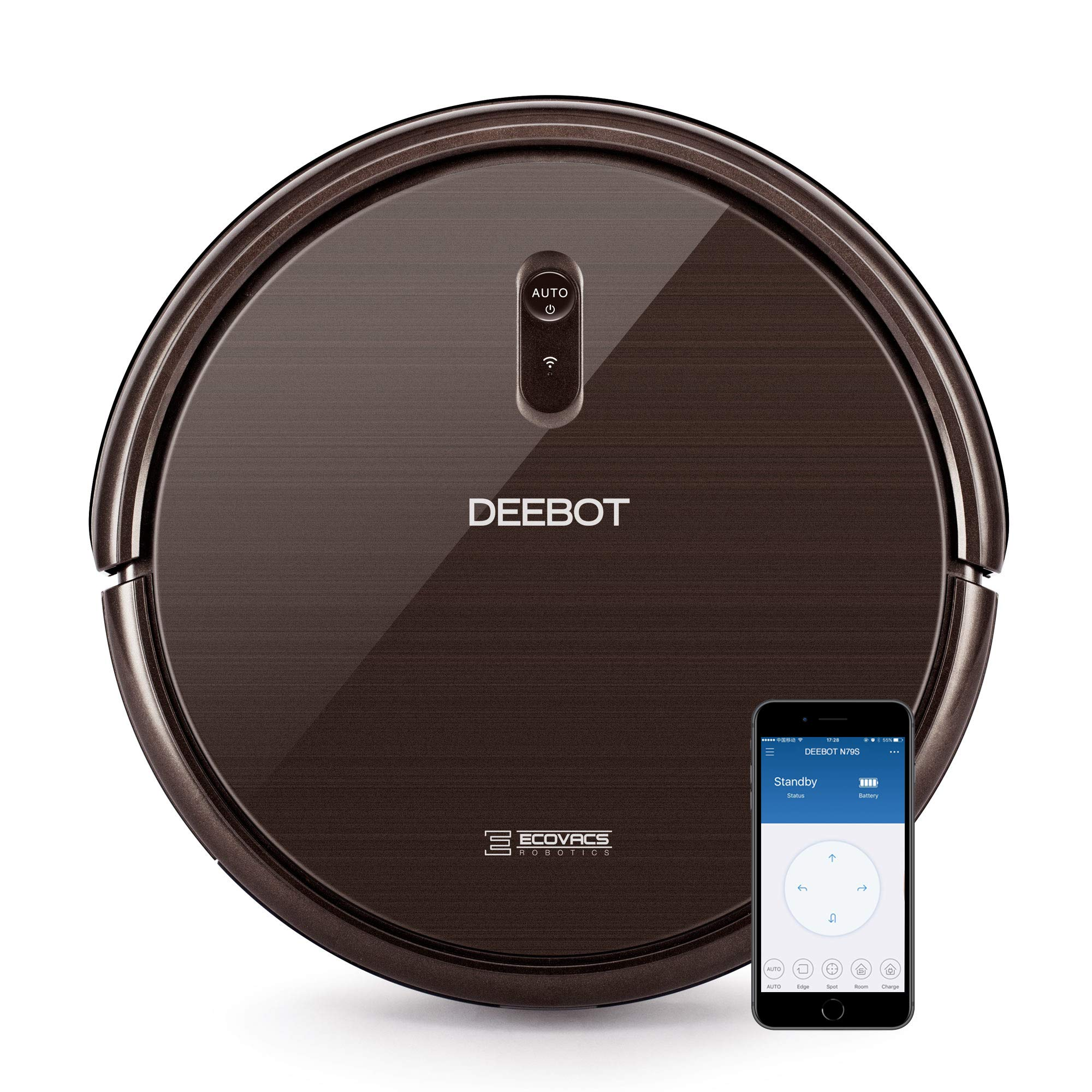 ECOVACS DEEBOT N79S Robot Vacuum Cleaner with Max Power Suction, Works with Alexa, App Controls, Self-Charging, Quiet, for Hard Floors & Carpets by ECOVACS