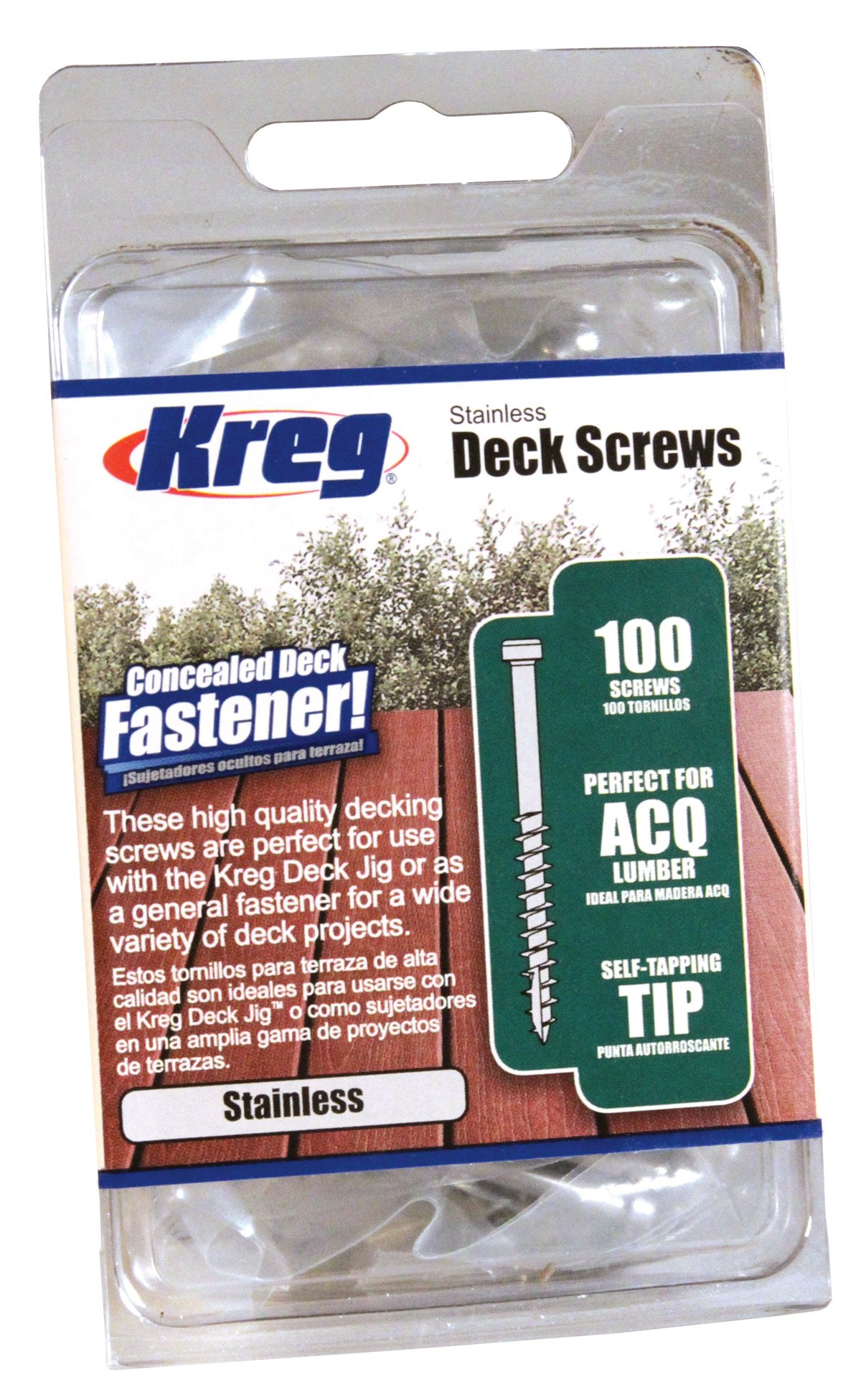 KREG SDK-C2SS-100 2-Inch, 8 Coarse, Stainless Steel Deck Screw, 100 Ct
