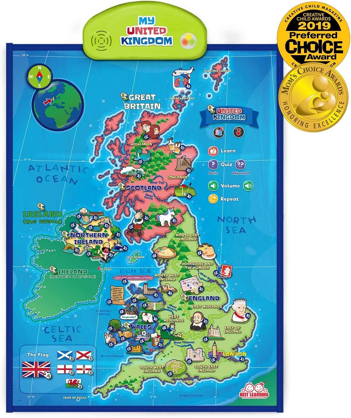 uk map for kids Best Learning I Poster My United Kingdom Interactive Map