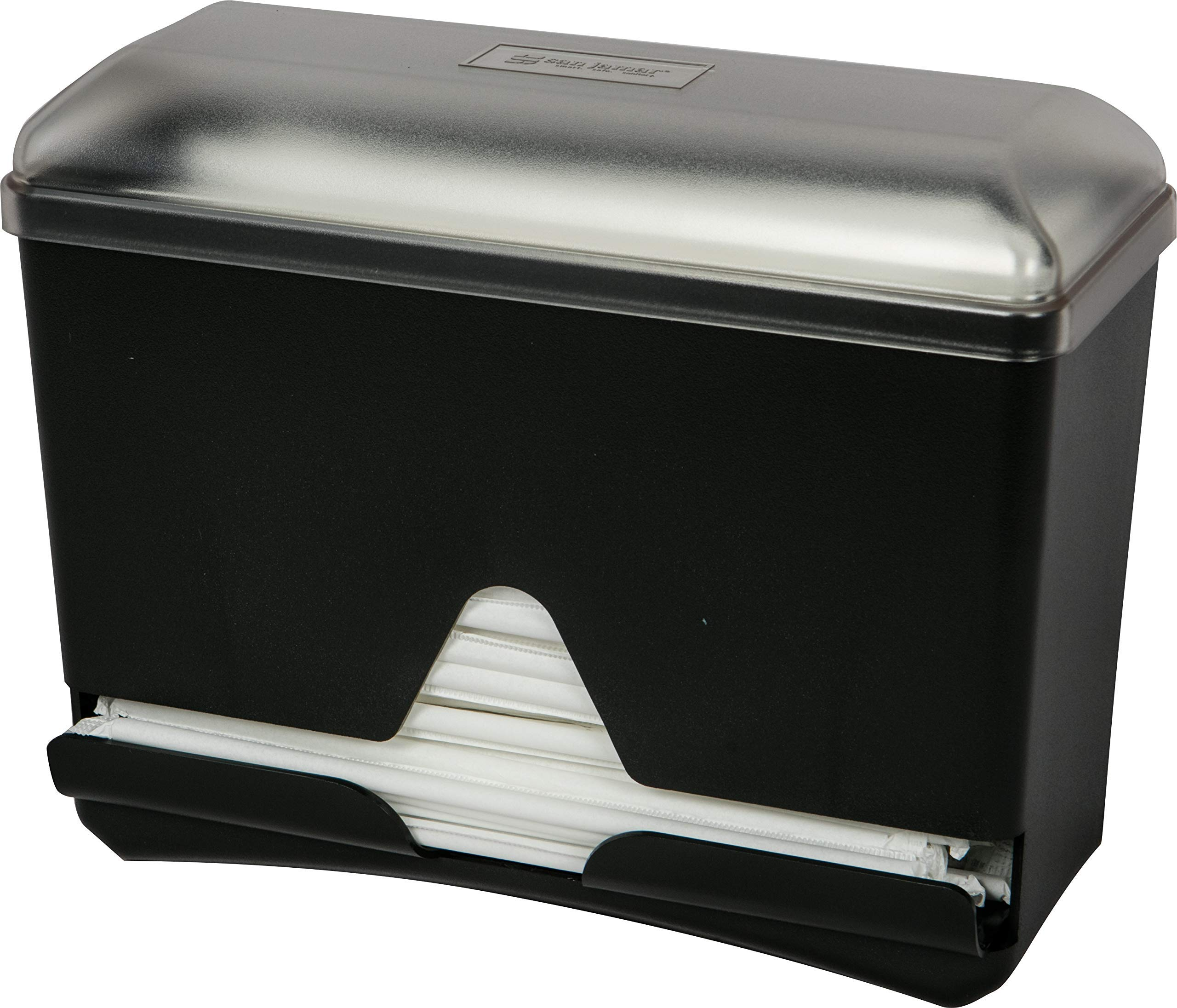 San Jamar ST250 Countertop Bulk Straw Dispenser, 250 Wrapped Straw Capacity, Black (Renewed) by San Jamar