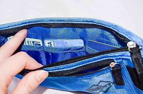 Cinturón monedero y candado de combinación para viaje, pack de 2, cartera oculta con