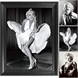 Marilyn Monroe White Dress 7 Year Itch 3D Poster Wall Art Decor Framed Print | 14.5x18.5 | Lenticular Posters & Pictures | Me