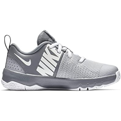 separation shoes 4d06d 7aae8 Nike Boy s Team Hustle Quick Basketball Shoe, Cool Grey White Wolf Grey,