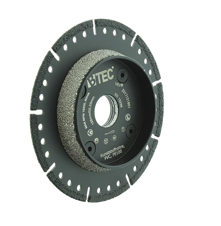 Berühmt KG-Rohr PVC-Rohr Anfasscheibe-Trennscheibe 125mm x 22,23mm BTEC VC52