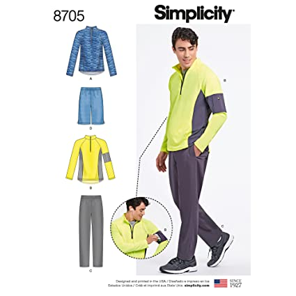 b2f6ee6791a19 Amazon.com  Simplicity Creative Patterns US8705A Pattern 8705 Men s ...