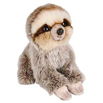 Wildlife Tree 7 Inch Sloth Stuffed Animal Plush Sitting Animal Kingdom Collection: Toys & Games