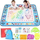 Gamenote Water Magic Mat - 40x30 Extra Large Doodle Water Drawing Mats No Mess Coloring Educational Painting Toys for Toddler