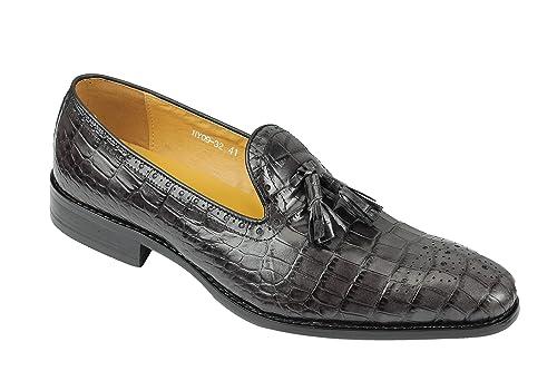 Xposed - Mocasines de Piel para Hombre Negro Gris/Negro, Color Negro, Talla 40 EU: Amazon.es: Zapatos y complementos