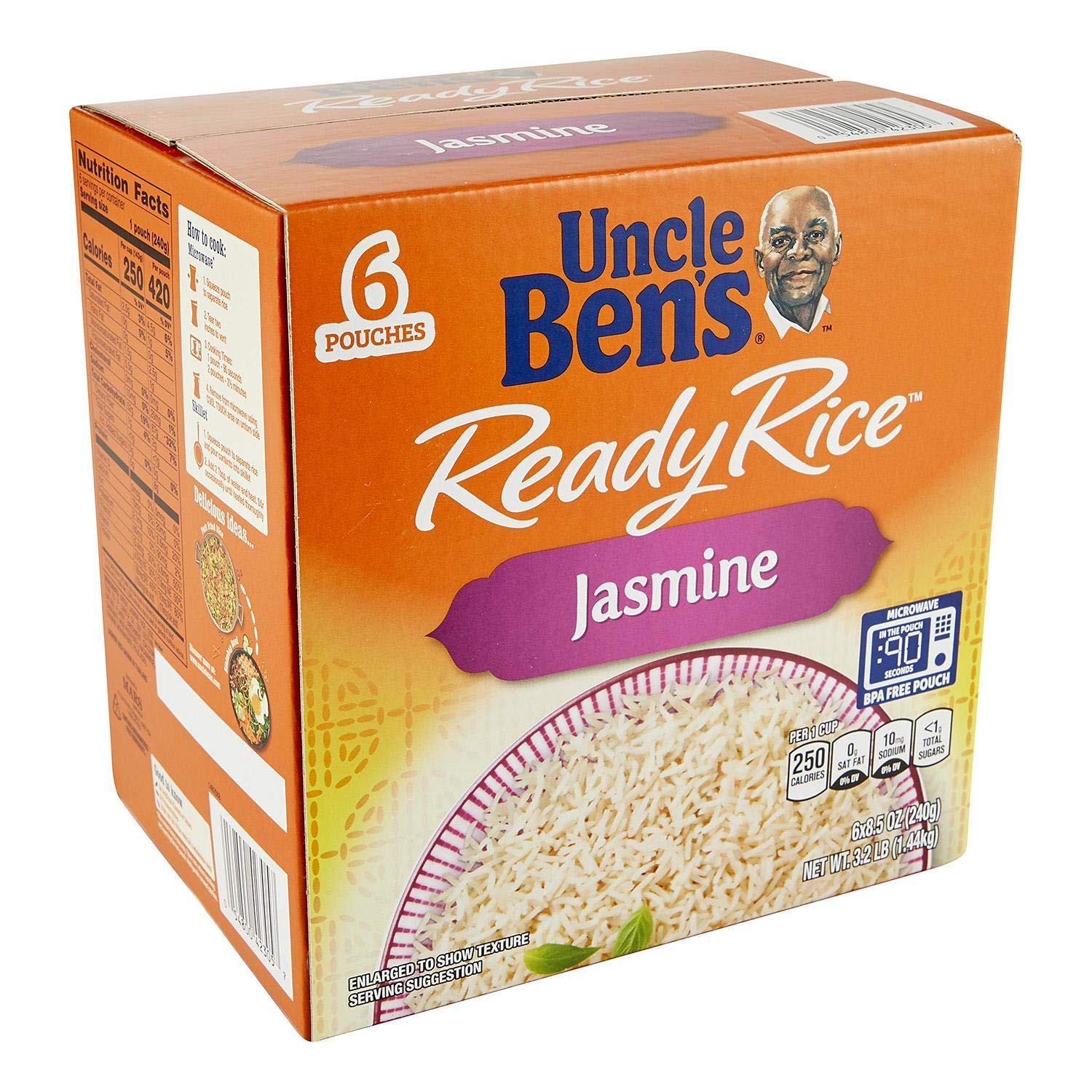 Uncle Bens Uncle Bens Jasmine Ready Rice 6 Pouches / 8.5 OunceNet Wt 51 Ounce , 51 Ounce