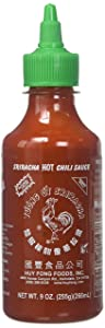 Huy Fong, Sriracha Hot Chili Sauce, 9 Ounce Bottle (10 Pack)