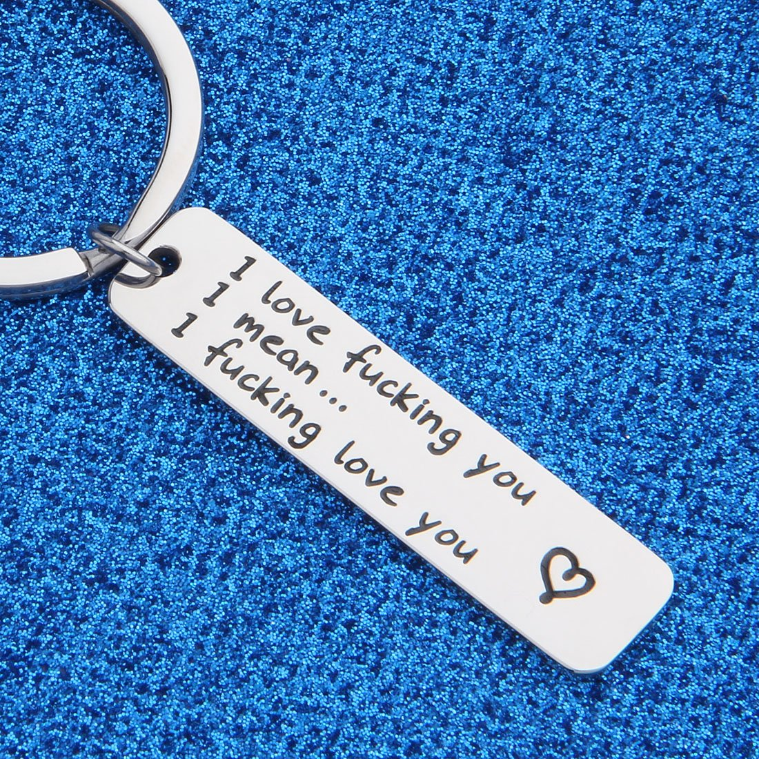 WUSUANED I Love Fucking You Keychain Valentine's Day Gift For Couples Boyfriend Girlfriend (I fucking love you keychain) by WUSUANED (Image #4)