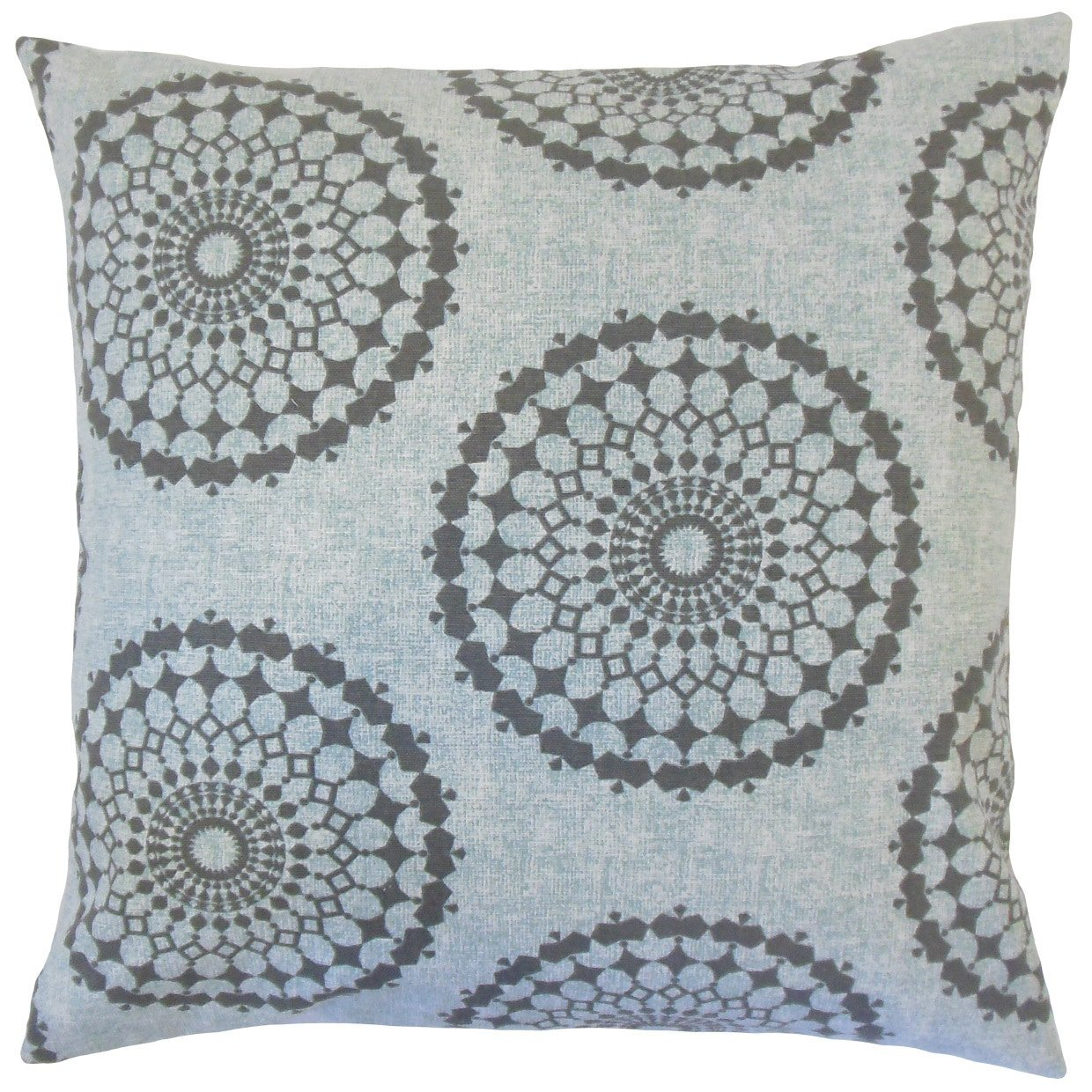 The Pillow Collection Elyes Geometric Rain Down Filled Throw Pillow