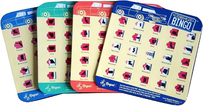 Regal Games License Plate Travel Bingo 2 Cards