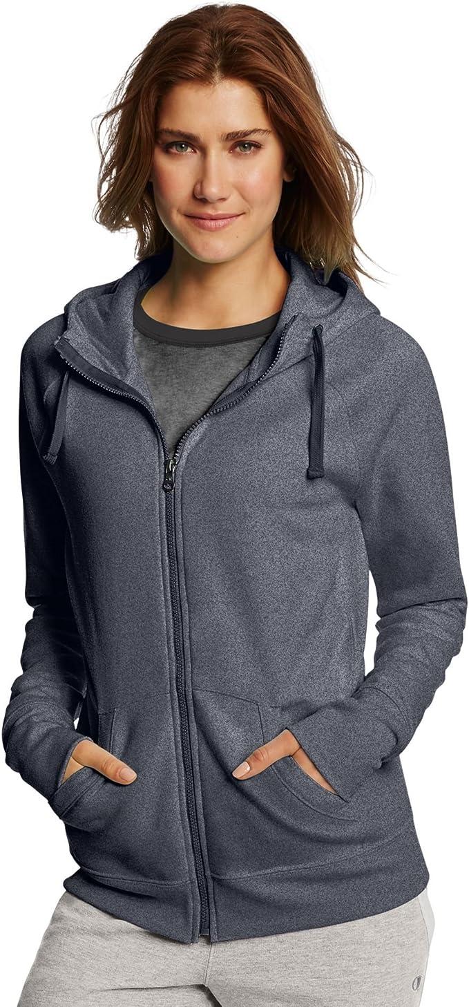 TALLA XXL. Champion Womens Fleece Full Zip Hoodie (W0933)