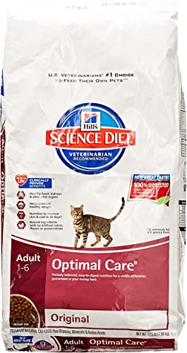 Hill S Science Diet Adult Optimal Care Original Dry Cat Food, 17.5 Lb Bag
