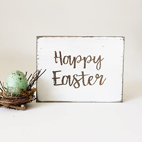 Amazon Happy Easter Rustic Spring Sign Handmade