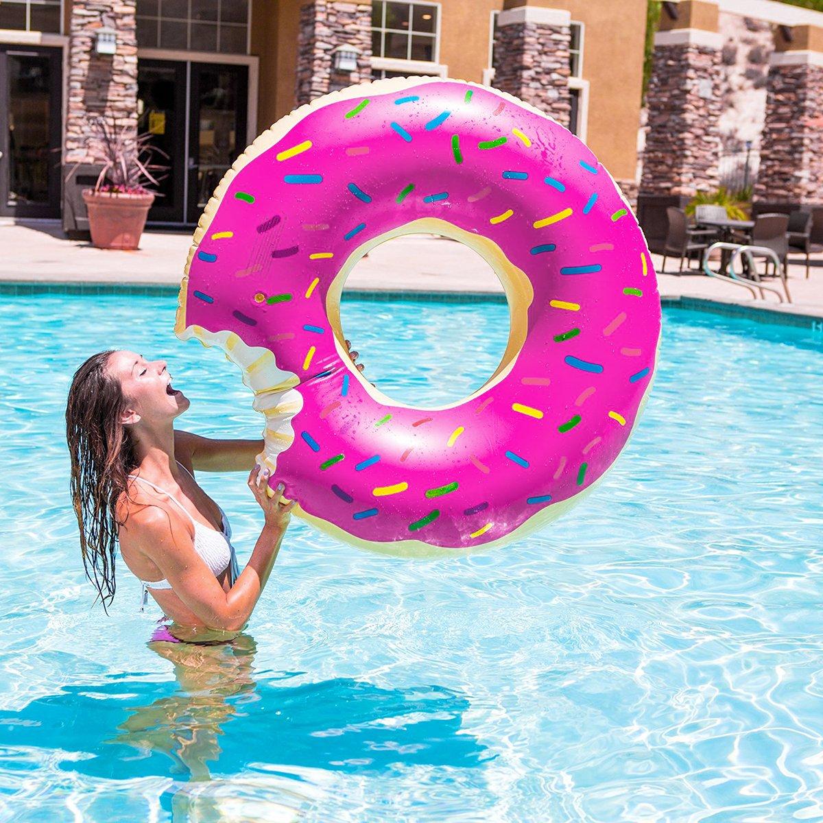 Beito Gigantic Donut Flotador de Piscina, Divertido Inflable Vinilo Verano Piscina o Playa Juguete: Amazon.es: Deportes y aire libre
