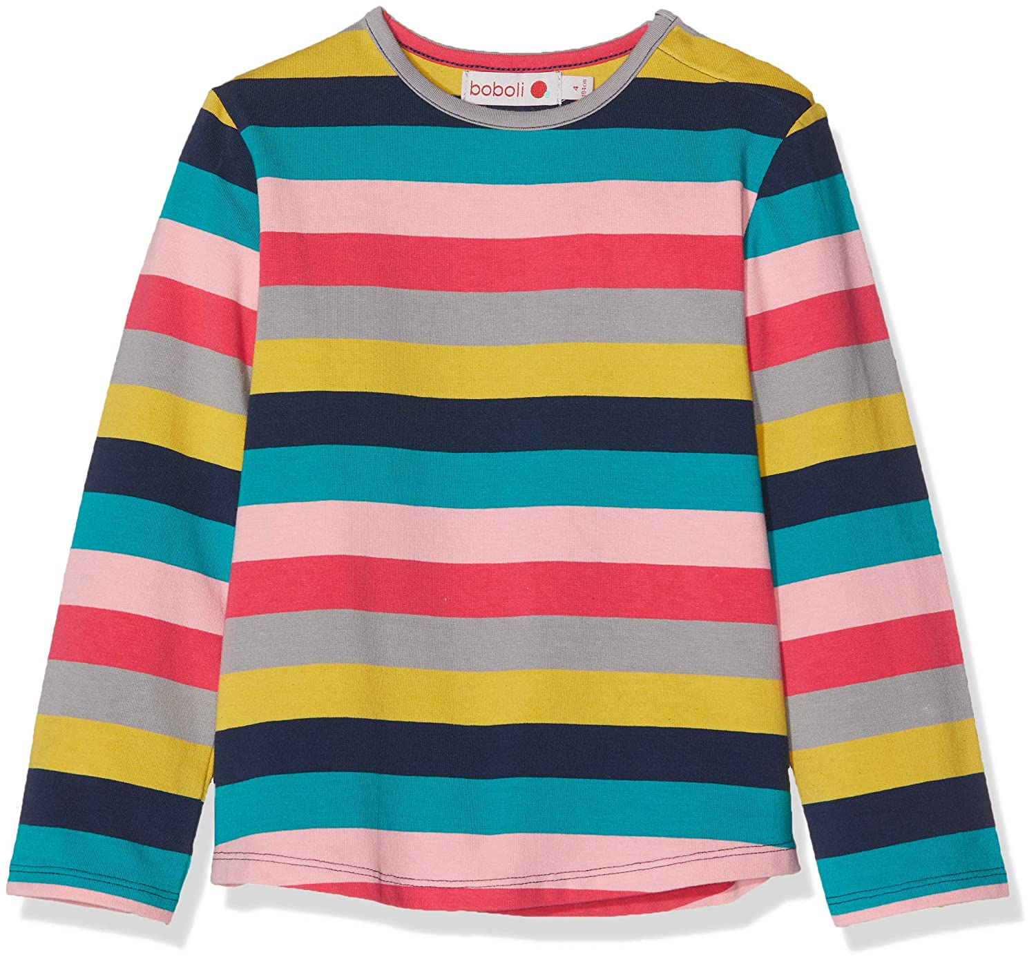 boboli Stretch Knit T-Shirt Striped for Baby Girl Bimba Bóboli 236124