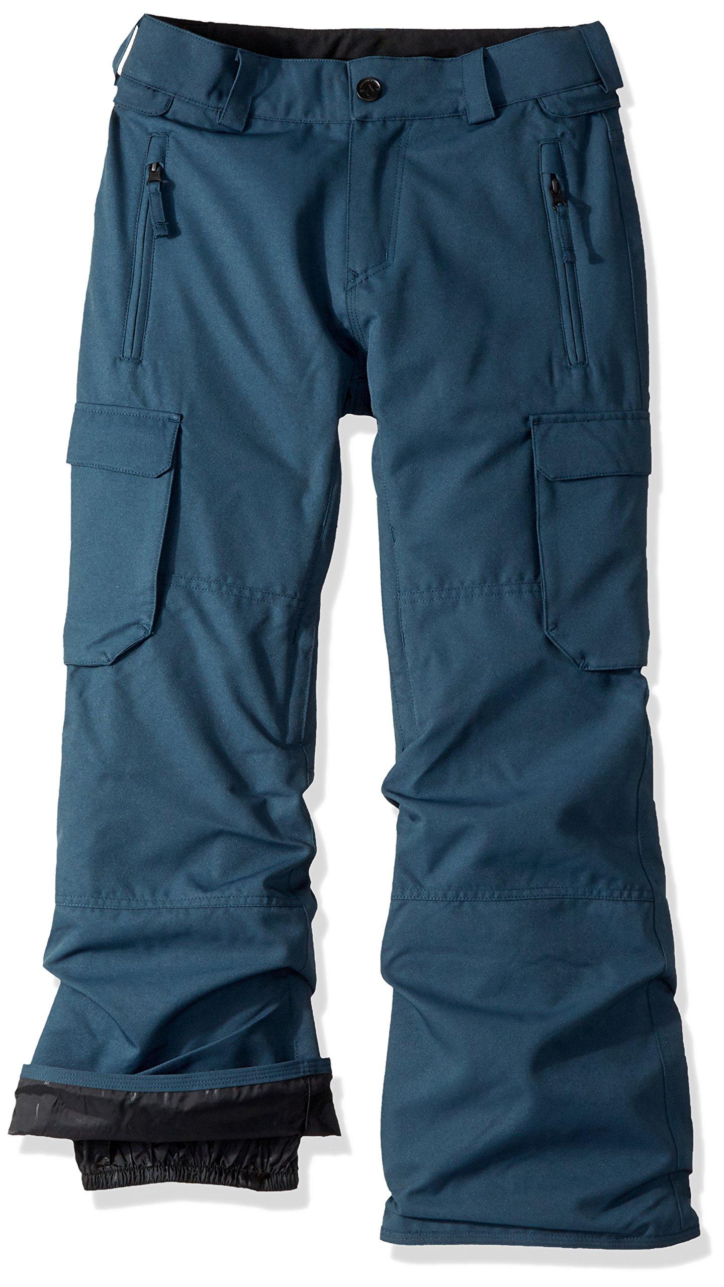 Volcom Boys' Big Cargo Insulated Pant, Snow Vintage Navy, XS