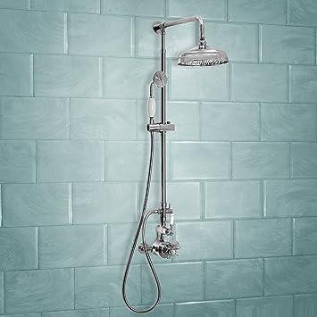 ENKI grifo mezclador termostática set ducha telescópic latón ...