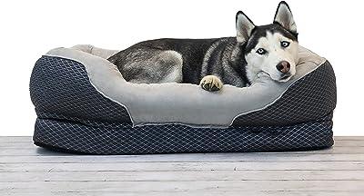 BarksBar Gray Orthopaedic Dog Bed