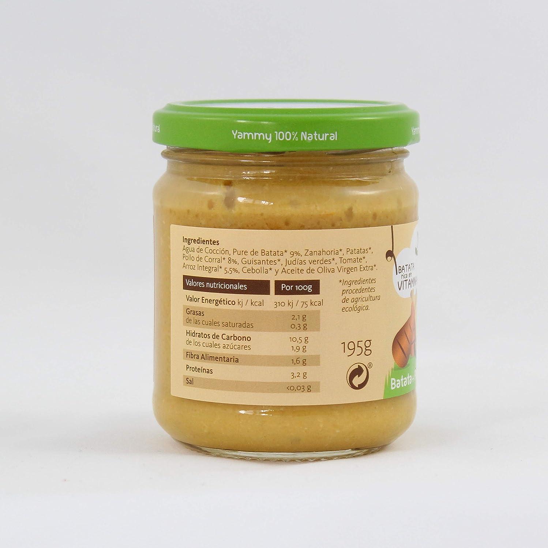 Yammy, Potito Ecológico de Pollo (Batata, Pollo de Corral, Arroz Integral) - 12 de 195 gr. (Total 2340 gr.): Amazon.es: Alimentación y bebidas