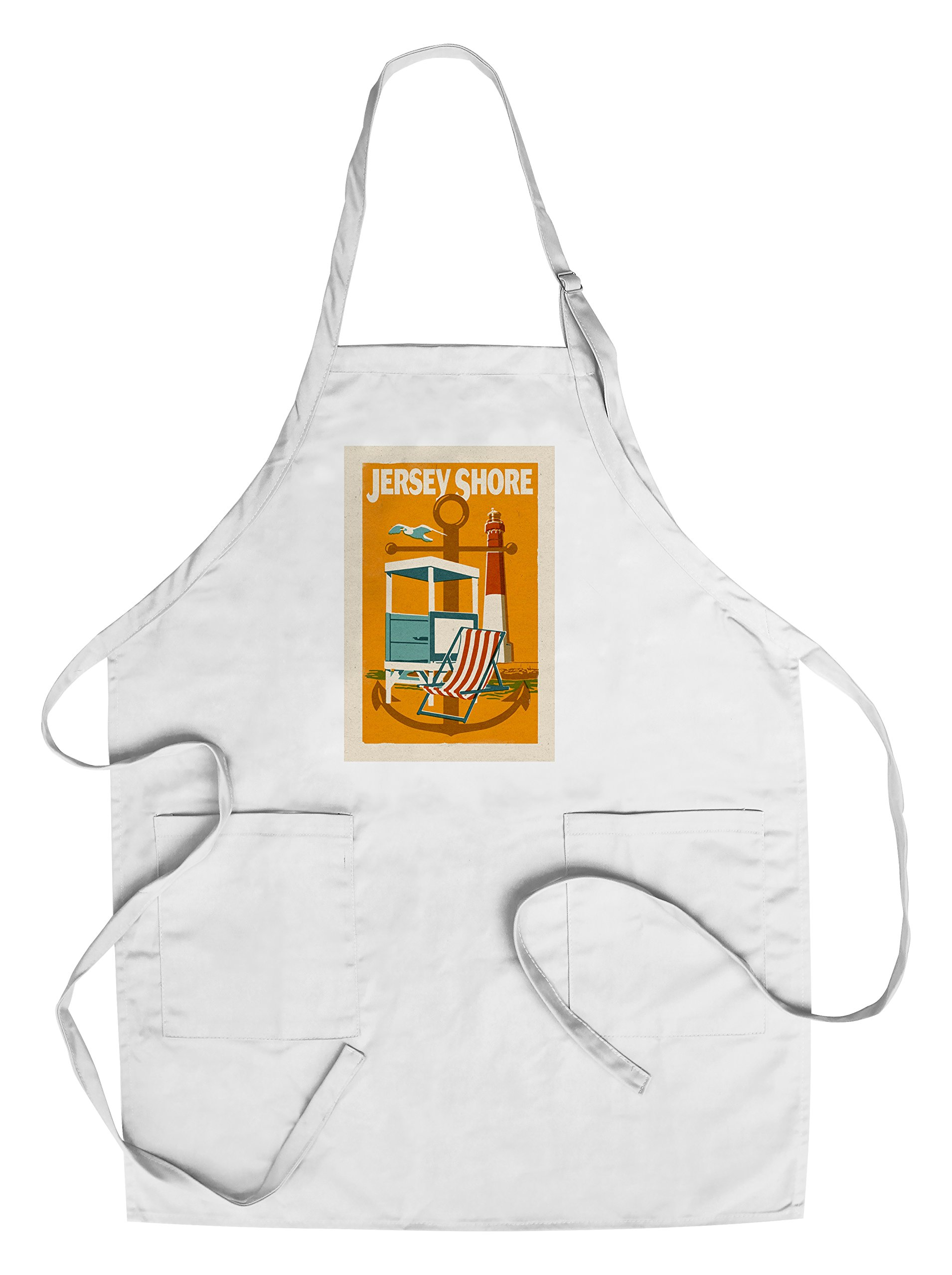 Jersey Shore - Woodblock (Cotton/Polyester Chef's Apron)