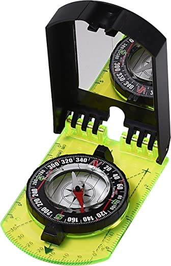 TurnOnSport Sighting Mirror Compass - Boy Scout Compass Hiking Survival - Map Reading Compass Orienteering - Mirror Compass Hunting Fishing - Green Compass Backpacking Camping