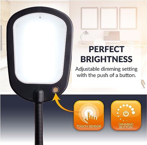 Newhouse Lighting NHFL-AP-BK Apollo LED Floor Lamp Energy-Efficient Natural Reading Artists Crafts Adjustable Gooseneck Task Light