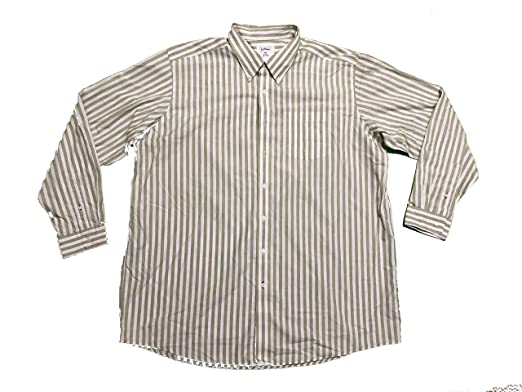 7e580dd78b L.L. Bean Men s Button Front Long Sleeve Striped Shirt XX-Large Tall Green