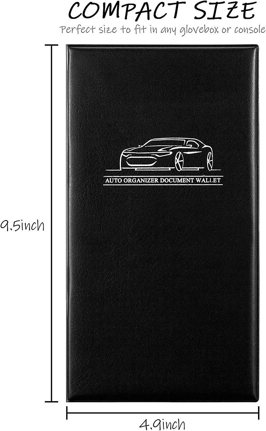 Trailer 4 Pieces Car Insurance and Registration Card Holder Automobile Essential Documents Wallet for Auto Truck