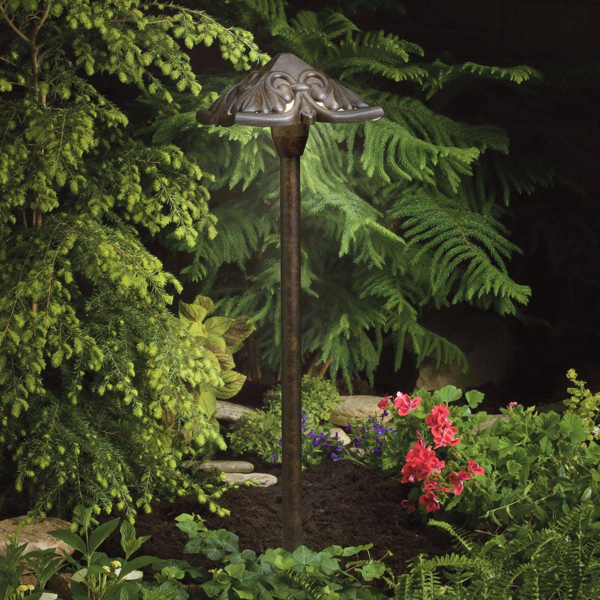 Kichler 15437TZT Path & Spread 1-Light 12V, Textured Tannery Bronze