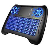 Dootoper Mini Wireless Keyboard 2.4G Mini Wireless XBMC Keyboard Touchpad Mouse Combo - Multi-media Portable Handheld Android Keyboard- for PC Google Android Smart TV Tivo Box for HTPC, IPTV, Smart TV, Android TV Box, PAD, PC, XBOX360 (T16 with backlight)