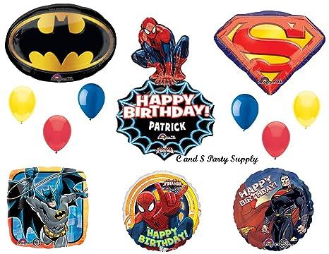 Amazon SUPERHEROES SPIDER MAN SUPERMAN BATMAN Birthday