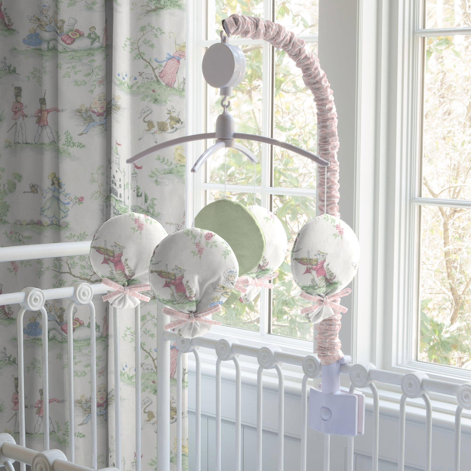 Carousel Designs Pink Over the Moon Toile Mobile