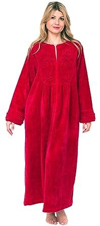 74764ef301 Bath   Robes Women s Chenille Full Length 100% Cotton Robe at Amazon ...