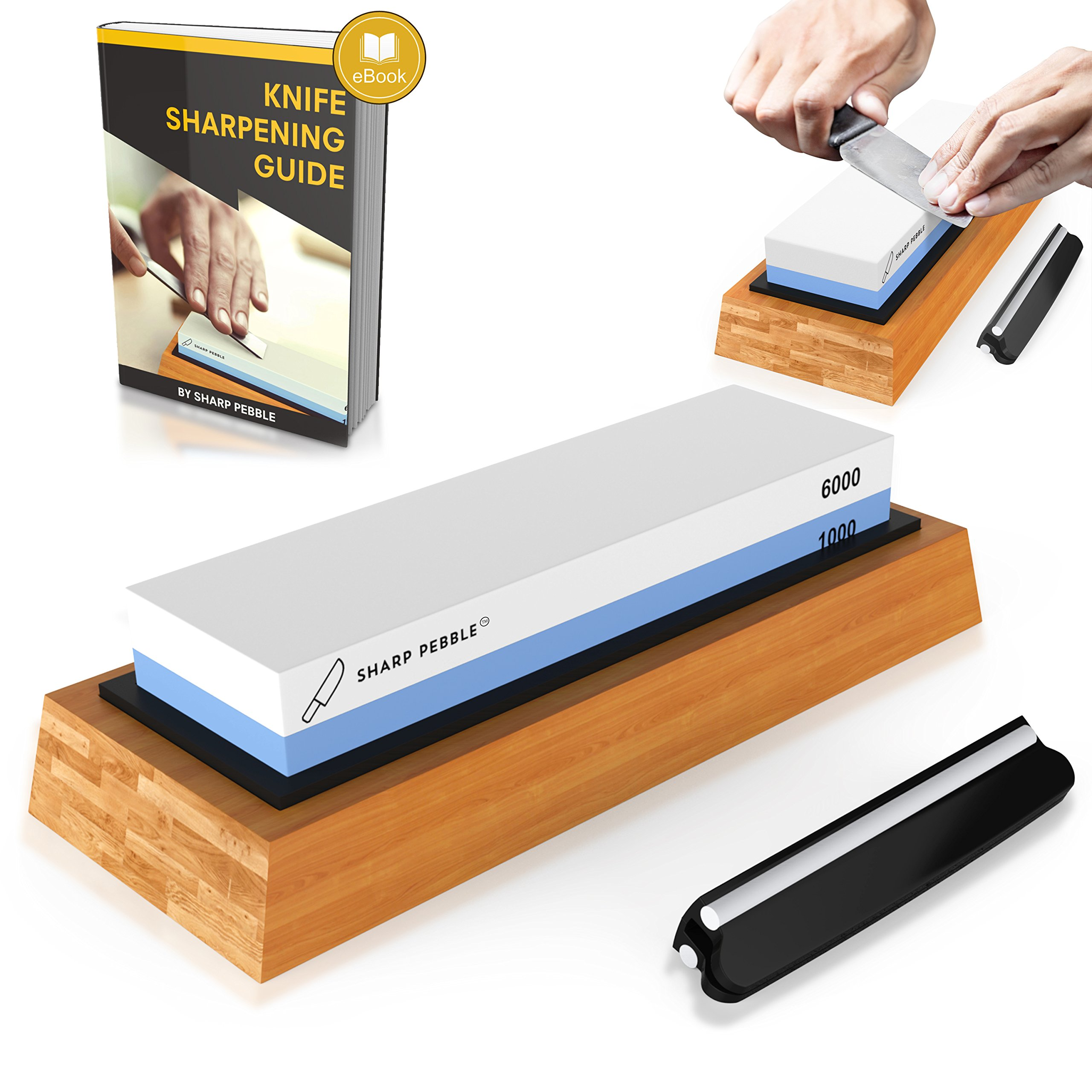 Premium Knife Sharpening Stone Two Sided Grit 1000/6000 | #1 Kitchen Knife Sh.. 18