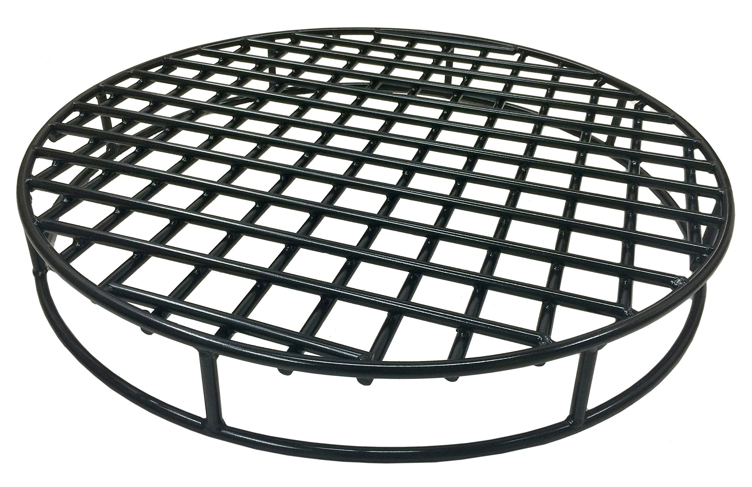 Walden Fire Pit Grate Round - Premium Heavy Duty Steel Grate for Outdoor Firepits - Above Ground Fire Grate (29.5'') by Walden Backyards