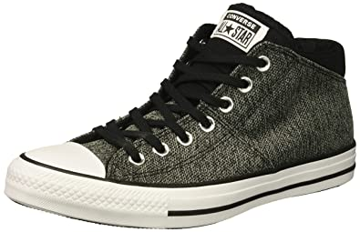ba4e3298a0e28 Converse Women s Chuck Taylor All Star Knit Madison Mid Sneaker  White Black