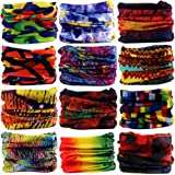 12Pieces Wide Headbands for Men and Women-Headwear Head Wrap Sweatband Neck Gaiter Magic Scarf Tube Mask Bandana Balaclava and Sport Scarf to Cycling Running Fishing Hiking