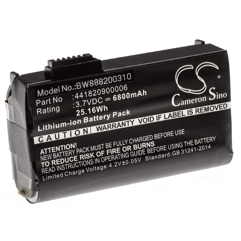 6800mAh, 3.7V, Li-Ion vhbw Akku passend f/ür Topcon FC-236 FC-336 Barcodescanner POS