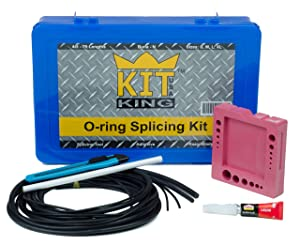 O-Ring Splicing Kit for Making Custom Sized Orings: SAE Standard Inch Cross Sections, NBR 70 Duro