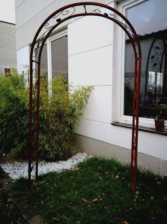 Zen Man 031473-1 - Pérgola para jardín (Metal Oxidado, Hecha a Mano, 120 x 30 x 220 cm): Amazon.es: Jardín