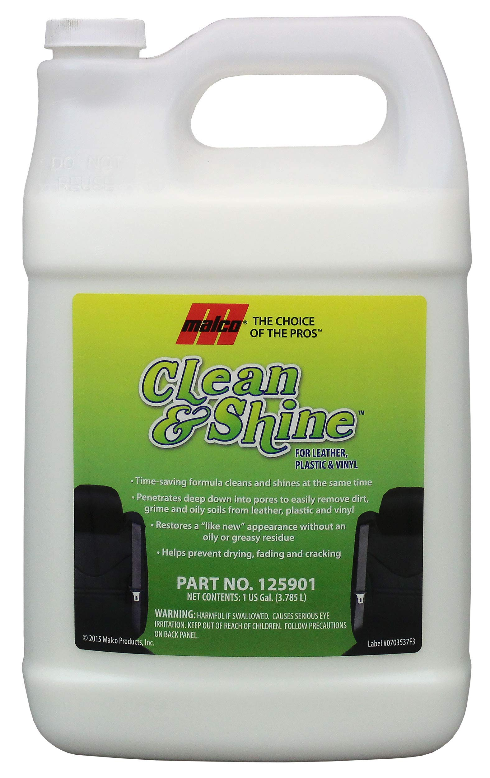 Malco Clean & Shine Interior Cleaner and Dressing, 1 gal (125901)