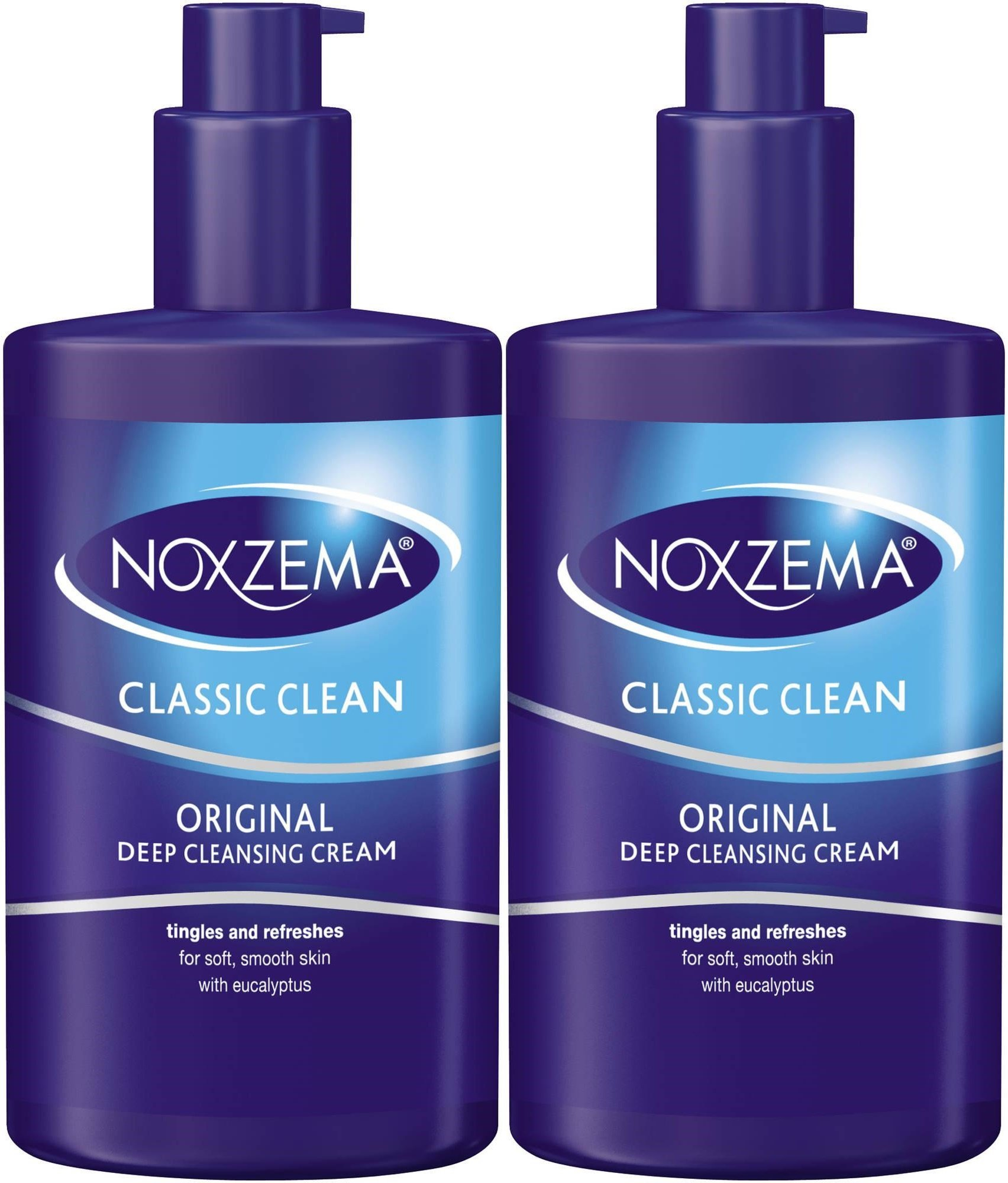 Noxzema Clean Moisture Deep Cleansing Cream, 8 Ounce Pump (2 Pack)