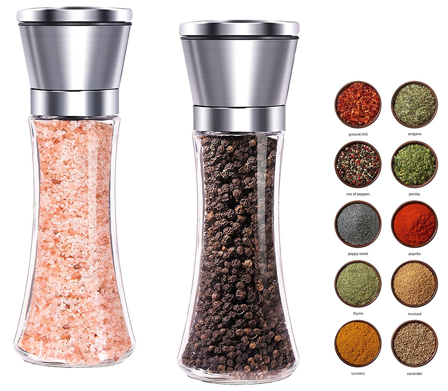 wisewifeナイフ削り器、キッチンナイフシャープシステム YMQ-01 B06Y1WDVFV  Pepper and Salt Grinder