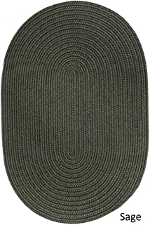 product image for Rhody Rug Woolux Wool Oval Braided Rug by (7' x 9') - 7' x 9' Oval Navy