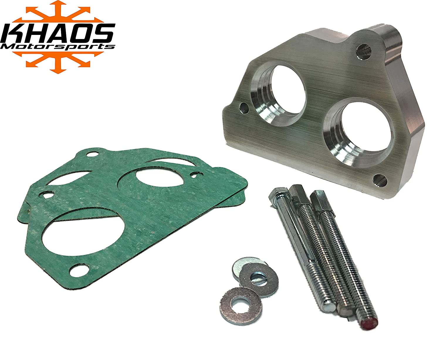 Throttle Body Spacer Helix Bore TBI 87-95 Chevy GMC 1500 5 7L 200-540 Khaos  Motorsports
